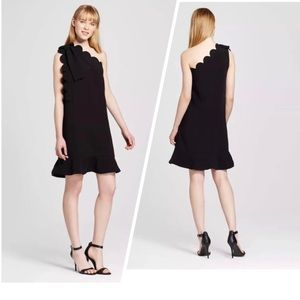 Victoria Beckham for Target Scallop Black Dress